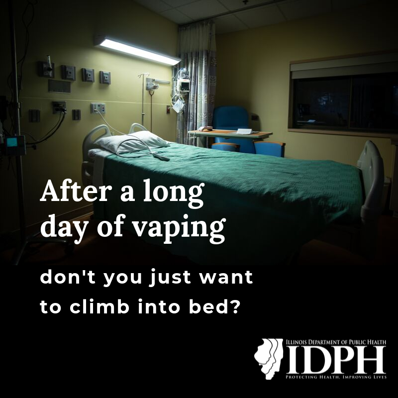 After a long day of vaping don't you just want to climb into bed? Dim hospital bed