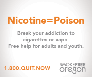 Nicotine=Poison Break your addiction to cigarettes or vape. Free help for adults and youth. 1.800.QUIT.NOW