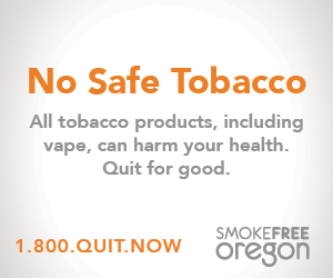No safe tobacco All tobacco products, including vape, can harm your health. Quit for good. 1.800.QUIT.NOW