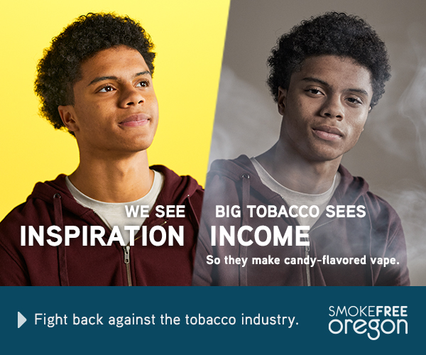 Happy teenager with bright yellow background: We see inspiration. 