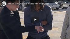 This Teen Can't Believe Julius Dein's Magic Vape, teen looks on as magician holds a cigarette