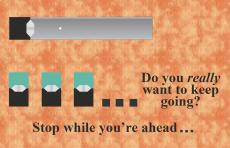 Do you really want to keep going? Stop while you're ahead…Silver JUUL pen and three JUUL pods