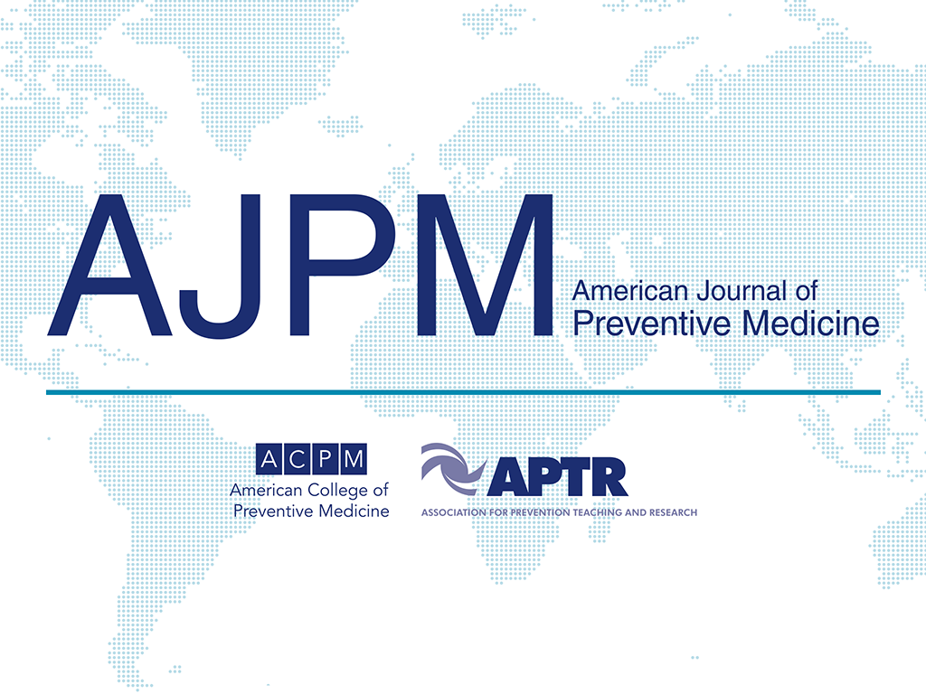 AJPM American Journal of Preventative Medicine global map
